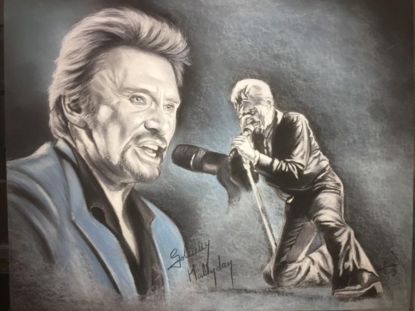 Johnny Hallyday par crokportrait